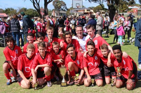 2016 U14 Div A League and Cup Winners - Kingsway Hawks